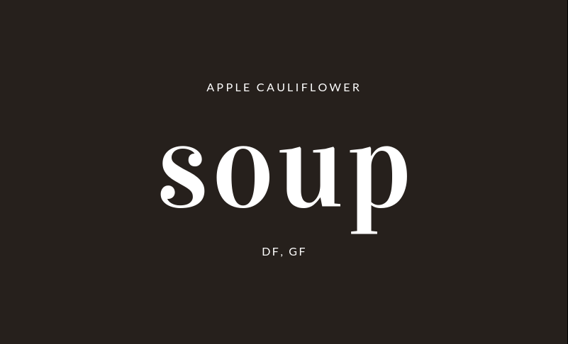 NutriBullet Apple Cauliflower Soup